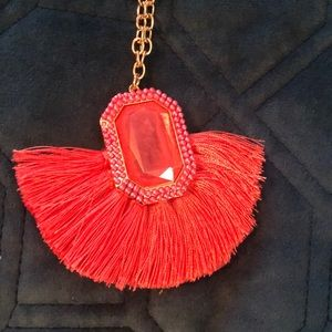 BaubleBar Jewelry - Fun long bold statement necklace! Fun coral color!